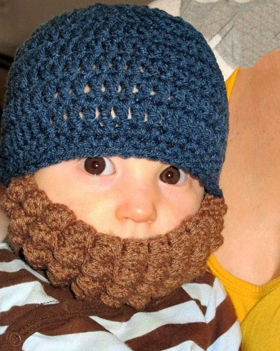 Adorable Crochet Beard Baby Toddler Hat