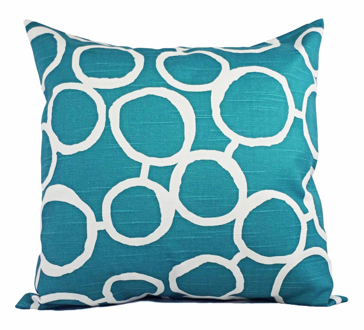 Turquoise Throw Pillows Covers : Turquoise Decorative Pillow Covers Two by CastawayCoveDecor