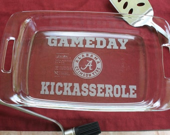 Gameday Kickasserole Tailgate Dish  * Christmas Gift, Football Fan, Roll Tide