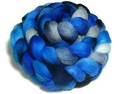 SALE 5 oz Hand-dyed Merino wool roving, (Painted Sky)