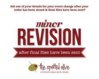 Minor Revision