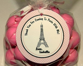 Paris Birthday Party Favor Tags 24