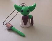 Tiny  Yoda with Tiny Lightsaber