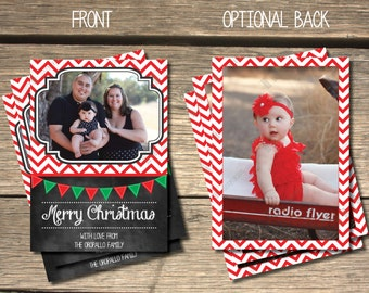 Zigzag Holiday Photo Card - 5x7