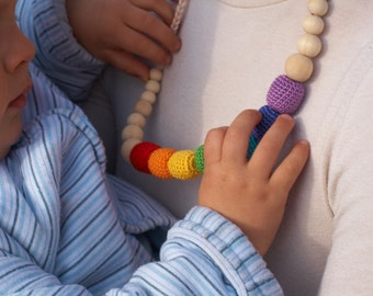 Rainbow Nursing Necklace /  ECO-Friendly Baby Teething Necklace / Nursing Necklace