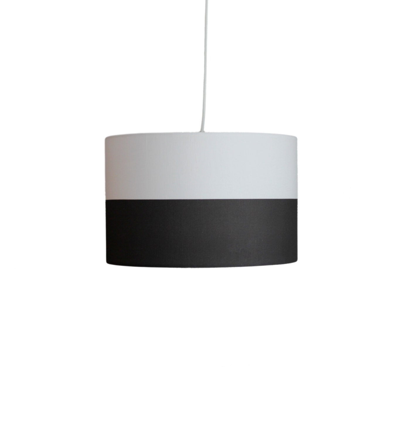 drum pendant light black and white color by mooddesignstudio