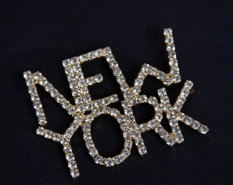 Dorothy Bauer Statement NEW YORK Crystal Brooch