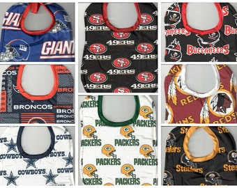 Handmade Baby Bibs - made with licensed NFL fabric