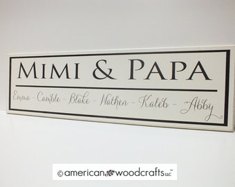 "Personalized Family Name Sign Custom Personalized Family Established Sign 7""x24"" wedding or anniversary gift"