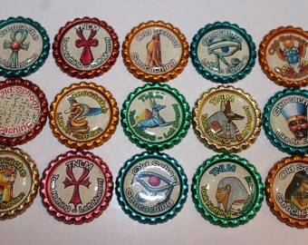 Geocache Coin Bottle Caps For Swag Trade Items - Egypt Old School Geocaching