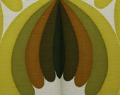 Stoff grün / weiß muster Design 60er