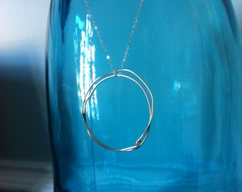 Light necklace-light circle necklace
