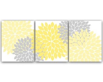 Bathroom Wall Art, INSTANT DOWNLOAD Bath Art, Printable Modern Bedroom Decor, Yellow and Gray Nursery Art, Home Decor - HOME37