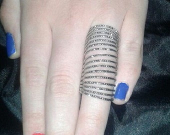 Cage Knuckle ring - Spirals - Layers and layers Size 6