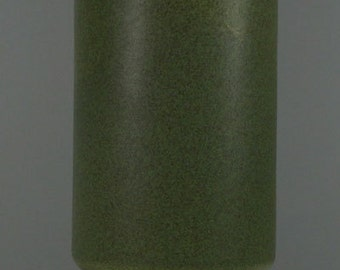 Vintage McCoy Floraline Round Footed Matte Finish Green Vase USA 412 Mid Century Modern Ceramic Pottery Antique Collectable