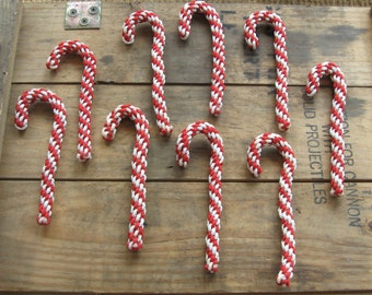 Vintage Handmade Candy Canes Set of 9