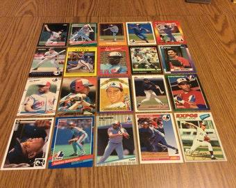 100 Montreal Expos Baseball Cards
