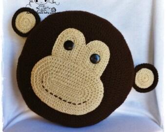 Monkey Pillow - PDF Crochet Pattern - Instant Download