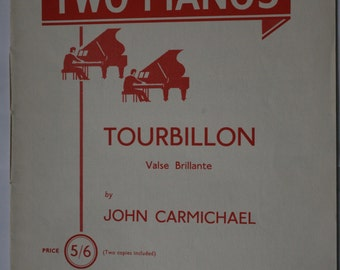 """1961 Sheet Music - """"Music for Two Pianos"""""""