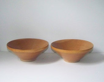 Two Wood Rice Bowls / Made in Japan / Noodle Bowl / Asian