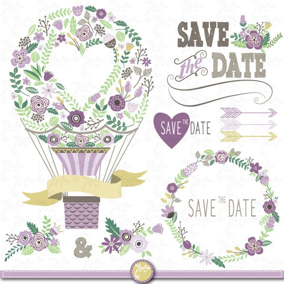 Clipart Flowers Wedding Invitation Clipart Flowers: Wedding Clipart Pack WEDDING FLORALclip