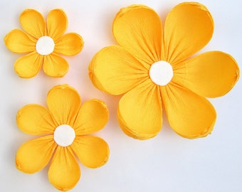 12 Paper Flowers / Arch Flowers/ Wedding Decoration/ Yellow Flowers/Party Decoration/Table Flowers/ Baby Shower Decorations/ Nursery Wall