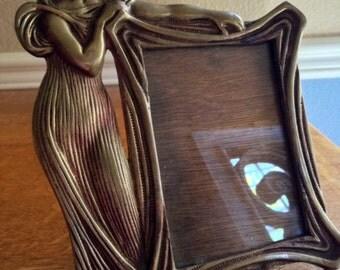 Art Nouveau picture frame, cast metal