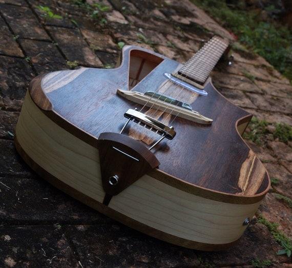 Items similar to electro acoustic guitar handmade luthier for Guitarras de luthier