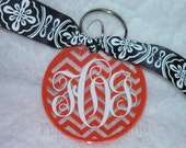 Acrylic monogrammed keychain
