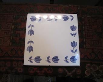 Vtg. Italian Hand Painted Hot Plate8.0 x8.0