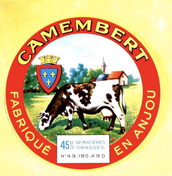 Vintage Cow Cheese Label From Anjou France