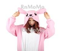 KIGURUMI Cosplay Romper Charactor animal Hooded Night clothes Pajamas Pyjamas Costume sloth  outfit Sleepwear  Pink kangaroo