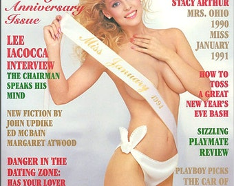 Vintage 1991 Playboy magazine with Stacy Leigh Arthur centerfold free shipping