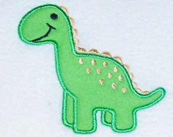 Super cute Dinosaur Bib, burp cloth, body suit or toddler shirt.