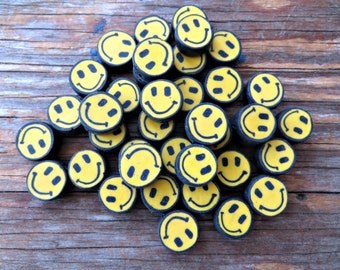 "Fimo ""Have A Nice Day"" Smiley Face Beads (50 pieces)"