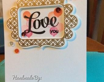 Love frame card
