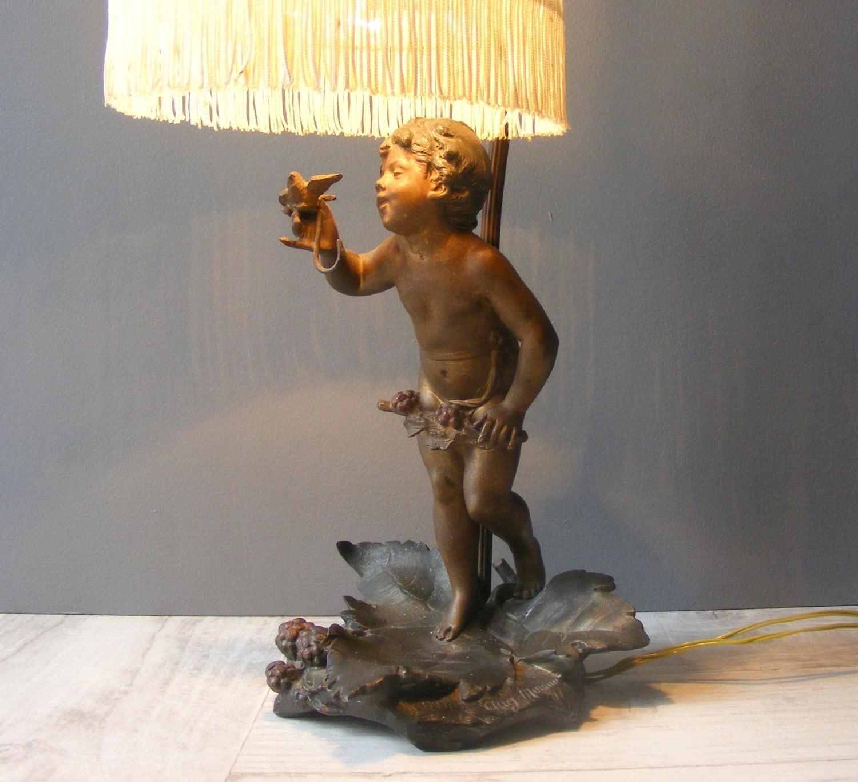 Gorgeous Auguste Moreau Art Nouveau French Bronze Cherub And