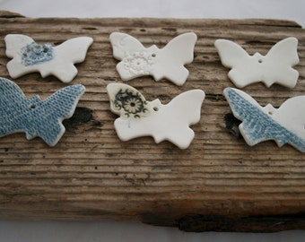 Six Hand Made Porcelain Butterfly