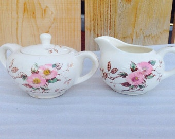 Nasco Springtime (Japan) Cream and Sugar set