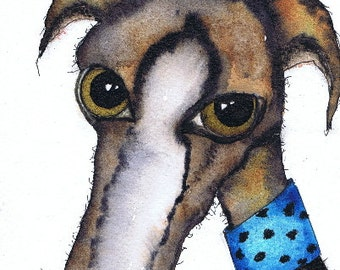 BEAUTIFUL GREYHOUND g271 Size A4 - printed on extremely good quality textured paper