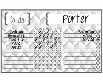 Personalized Chore Chart,  Personalized Chore Board