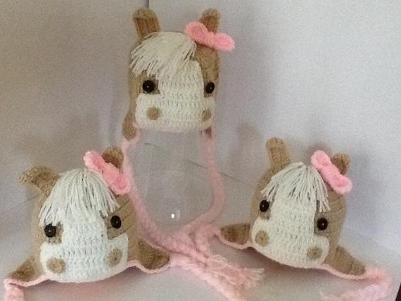Crochet horse hat / children hat/ girl horse hat by ...