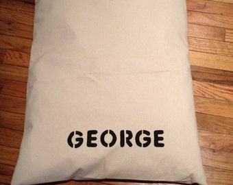 Personalized Solid Duck Canvas Dog Bed Cover