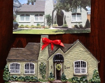 NOT FOR PURCHASE, Example Ornament; please convo me for a quote on making a custom listing for your own special home replica ornament :)