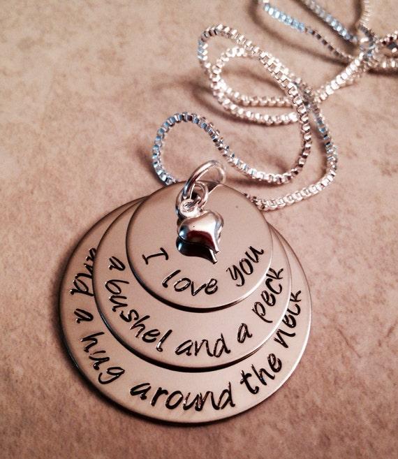 I Love You A Bushel And A Peck Necklace: SALE I Love You A Bushel And A Peck And A By WhirlyBirdDesigns