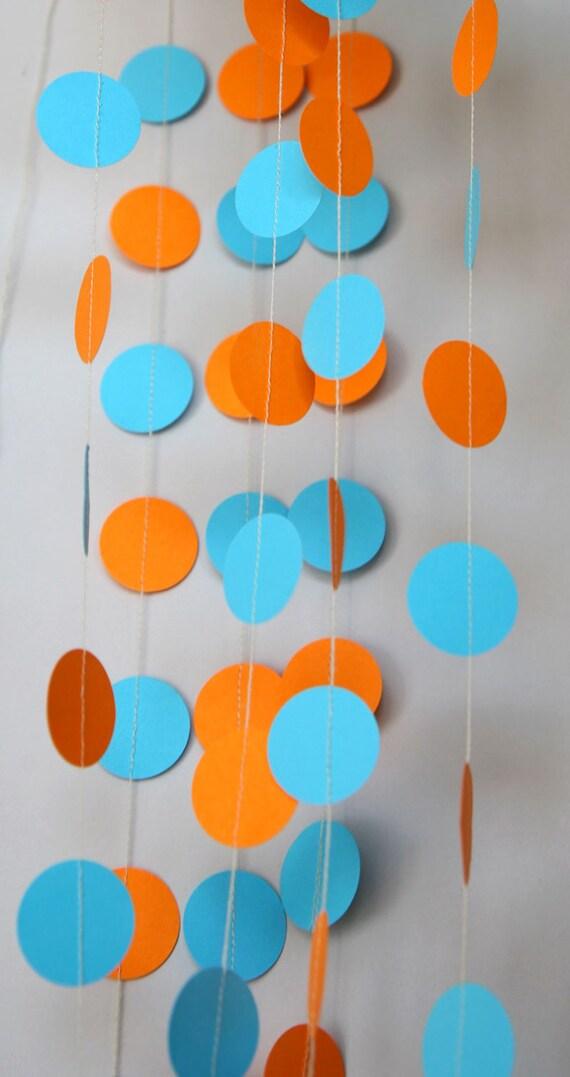 garland orange blue wedding orange blue garland party decorations