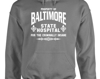 BALTIMORE STATE HOSPITAL Hoodie hooded sweatshirt sweat shirt