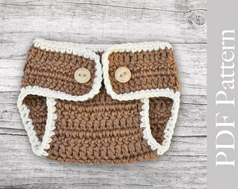 Crochet Baby Girl Diaper Cover Pattern : Crochet Diaper Cover Basic Size Newborn PDF Pattern
