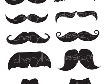 Mustaches INSTANT DOWNLOAD
