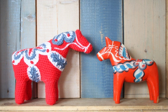 Dala Horse crochet pdf pattern INSTANT DOWNLOAD